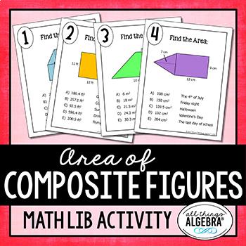 Area of Composite Figures - Math Lib Activity!