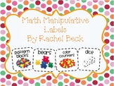 Math Manipulative Small Labels {Updated February 8, 2015}