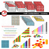 Math Manipulatives - Counting Clipart by Poppydreamz (COLO