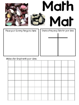 Math Mat Review Activity:  Colored Gummy Penguins