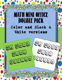 Math Mini Office for Upper Elementary- Color and Black & W