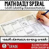 Math Spiral Review- 5th Grade