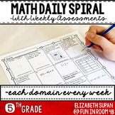 Math Spiral Review- 5th Grade