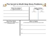 Math Multi-Step Problem Solving Mat