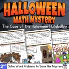 Math Mystery-Case of the Halloween Hullabaloo-Grade 2-CCSS