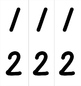 Math Number Cards with Operation signs and parenthesis FREE