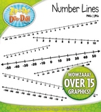 Math Number Lines Clipart — Includes 20 Graphics!