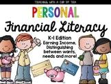 Math: Personal Financial Literacy {Texas K-1 Edition}