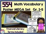 Math Word Wall MEGA Set+Financial Literacy Gr 3-5 {554 Pos