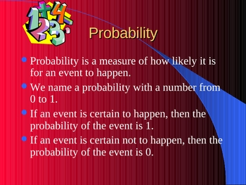 Math Probability and Chance PowerPoint lesson