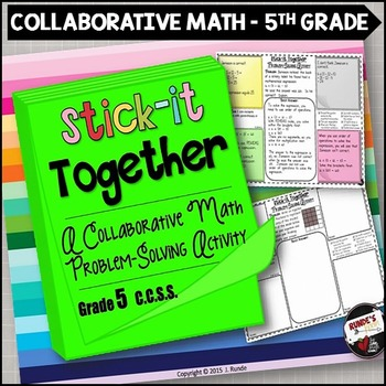 Math Problem-Solving Collaborative Activity for Grade 5 Common Core
