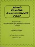 Math Profile Assessment Tool -- Grade 3