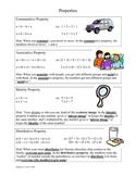 Math Properties Identity Distributive Associative Commutative