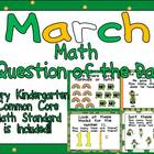 Math Question of the Day- Kindergarten Common Core for March