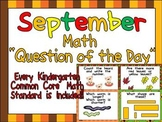 Math Question of the Day- Kindergarten Common Core for September