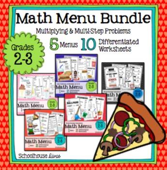 Math Restaurant Menu Bundle (2nd - 3rd)