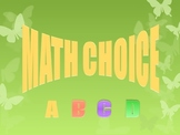 Math Review with a Multiple Choice PowerPoint
