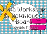 Math Rotations Board - Turquoise/Gray Theme