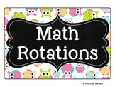 Math Rotations board