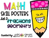 Math Skill Posters: Set 2 (Based on 4th and 5th Grade CCSS)