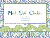 Math Skills Checklist The Teacher's Work Room