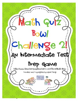 Math Standardized Test Quiz Show Review Game 2