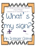 Math Station Mini-Book:  What's My Sign? ~ A Common Core I