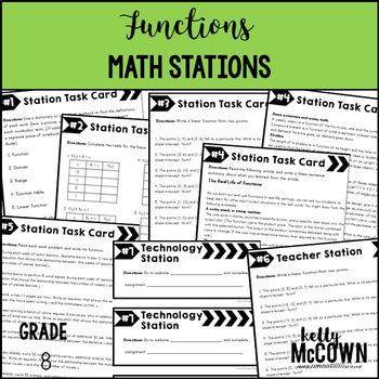 Math Stations: Functions