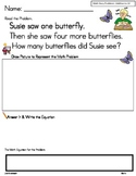 Math Story Problems Additionto 10 ... Read It, Draw It, So