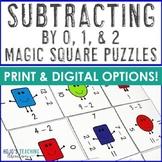 Math Subtraction Magic Square -0 -1 -2