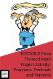 Math Summative Pizza Project for Fractions, Decimals & Percents