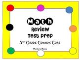 Math Task Cards Common Core Test Prep 3rd Grade