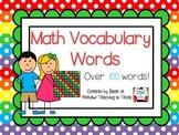 Math Vocabulary Cards