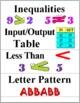 Patterns and Algebraic Thinking - Math Word Wall Cards