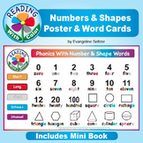 Math Words ~ Shapes and Numbers ~ Poster & Cards with Color Hints