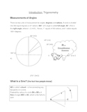 Math for Science Students: Trigonometry.