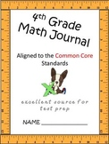 Math journal 4th grade CCSS aligned extended responses Part I
