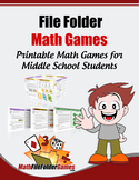 MathFileFolderGames: 42 Printable Math Games for Middle Sc