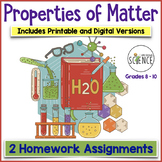 Matter and Change Homework (Elements, Compounds, Mixtures)