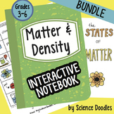 Matter and Density Interactive Notebook BUNDLE by Science Doodles