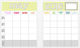 May 2015 Editable Curriculum Planning Calendar