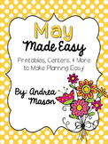 May  Made Easy!  Printables, Centers, and More to Make Pla