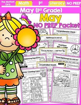 May NO PREP Math and Literacy (1st Grade)