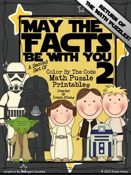 Star Wars ~ May The Facts Be With You 2 ~ Math Set Of Color By The Number Code