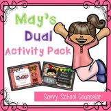 May's Dual School Counselor Activity Pack - Savvy School C