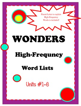 McGraw Hill High-Frequency Word Lists Second Grade FREEBIE!