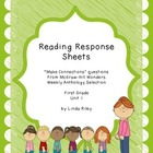 McGraw Hill Wonders Unit 1 Reading Response, First Grade