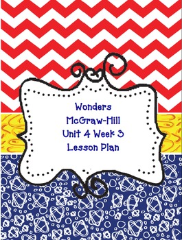Kindergarten McGraw-Hill Wonders: Unit 4 Week 3- Lesson Pl