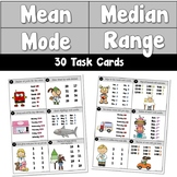 Mean, Median, Mode, Range Task Cards