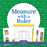 Measure with a Ruler Math Center Activity with Task Cards